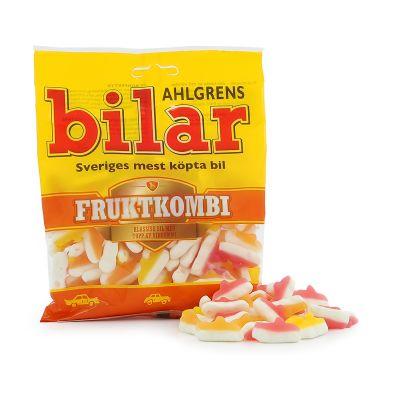 Ahlgrens Bilar Fruktkombi, 125 g