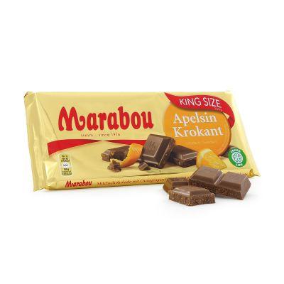Marabou King Size Apelsinkrokant, 250 g