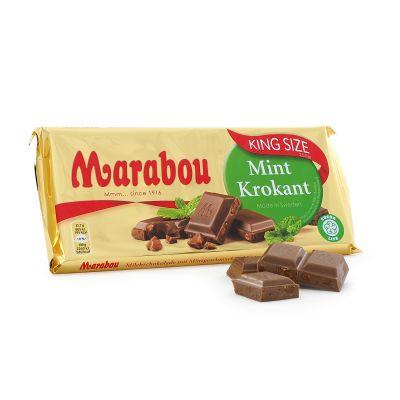 Marabou King Size Mintkrokant, 250 g