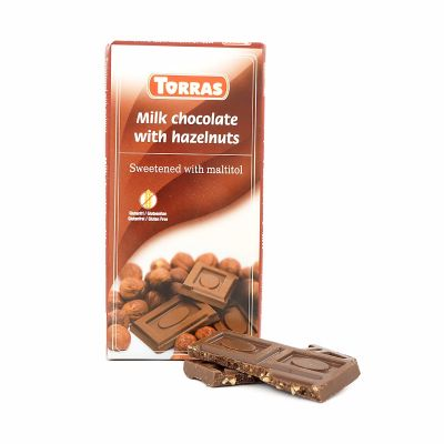 Torras Milk chocolate with hazelnuts, 75 g