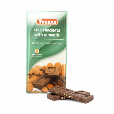 Torras Milk chocolate with almonds, 75 g