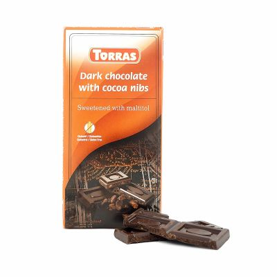 Torras Dark chocolate with cocoa nibs, 75 g