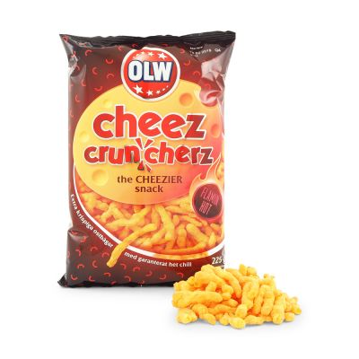 OLW Flamin' Hot Cheez Cruncherz, 225 g