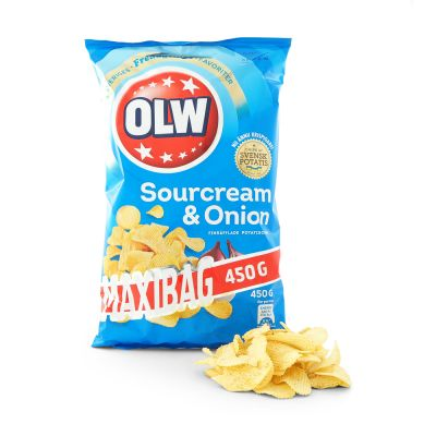 OLW Sourcream & Onion, 450 g
