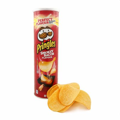 Pringles Smokey Bacon, 190 g