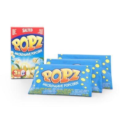 Popz Microwave Popcorn Salted, 3x90 g
