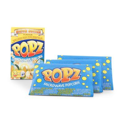 Popz Microwave Popcorn Movie Butter Flavor, 3x90 g
