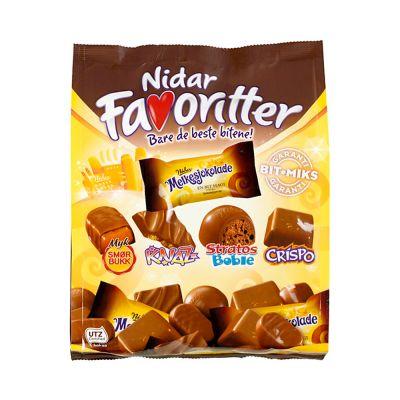 Nidar Favoritter Melkesjokolade, 300 g