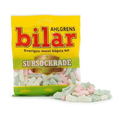 Ahlgrens Bilar Sursockrad, 100 g