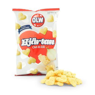 OLW Hjärta Ost & Lök, 100 g