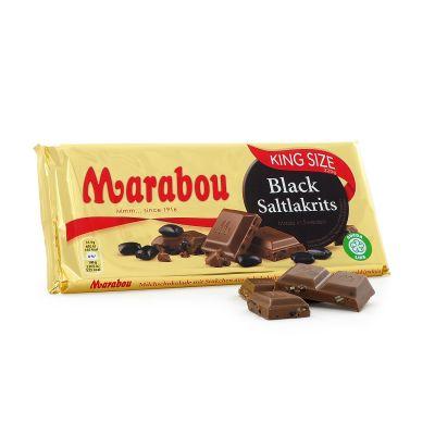 Marabou Black Saltlakrits, 220 g