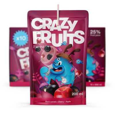 Crazy Fruits Forest, 10x 200 ml