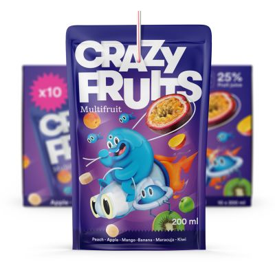Crazy Fruits Multifruit, 200 ml x10
