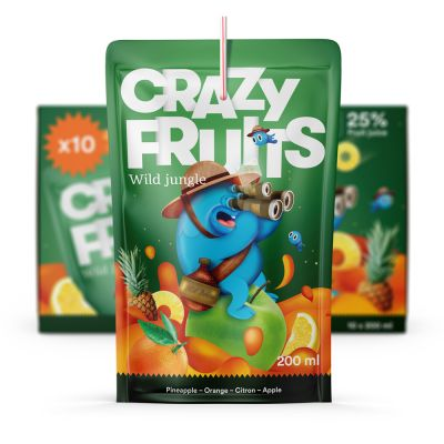 Crazy Fruits Wild Jungle, 10x 200 ml