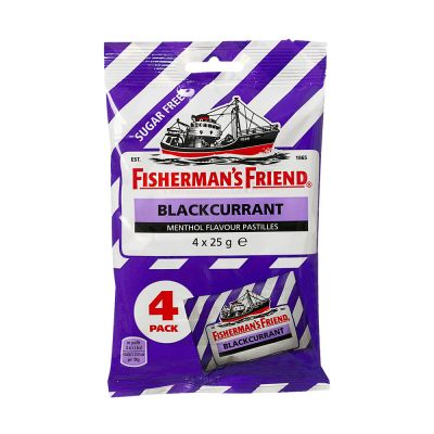 Fisherman's Friend Blackcurrant Sockerfri, 25 g x4