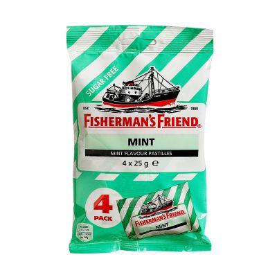 Fisherman's Friend Mint Sockerfri, 25 g x4