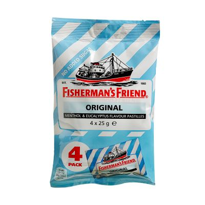 Fisherman's Friend Original Sockerfri, 25 g x4