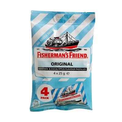 Fisherman's Friend Original Sockerfri, 25 g x4