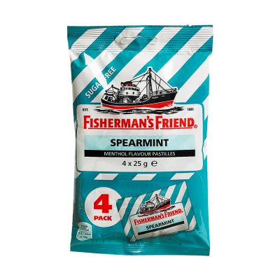 Fisherman's Friend Spearmint Sockerfri, 25 g x4