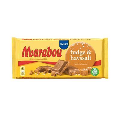 Marabou Fudge & Havssalt, 185 g