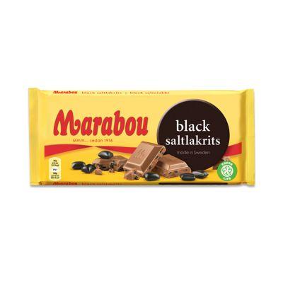 Marabou Black Saltlakrits, 180 g