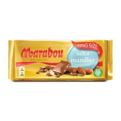 Marabou King Size Salta Mandlar, 220 g