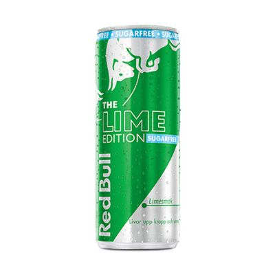 Red Bull Lime Sockerfri 12-pack, 3000 ml